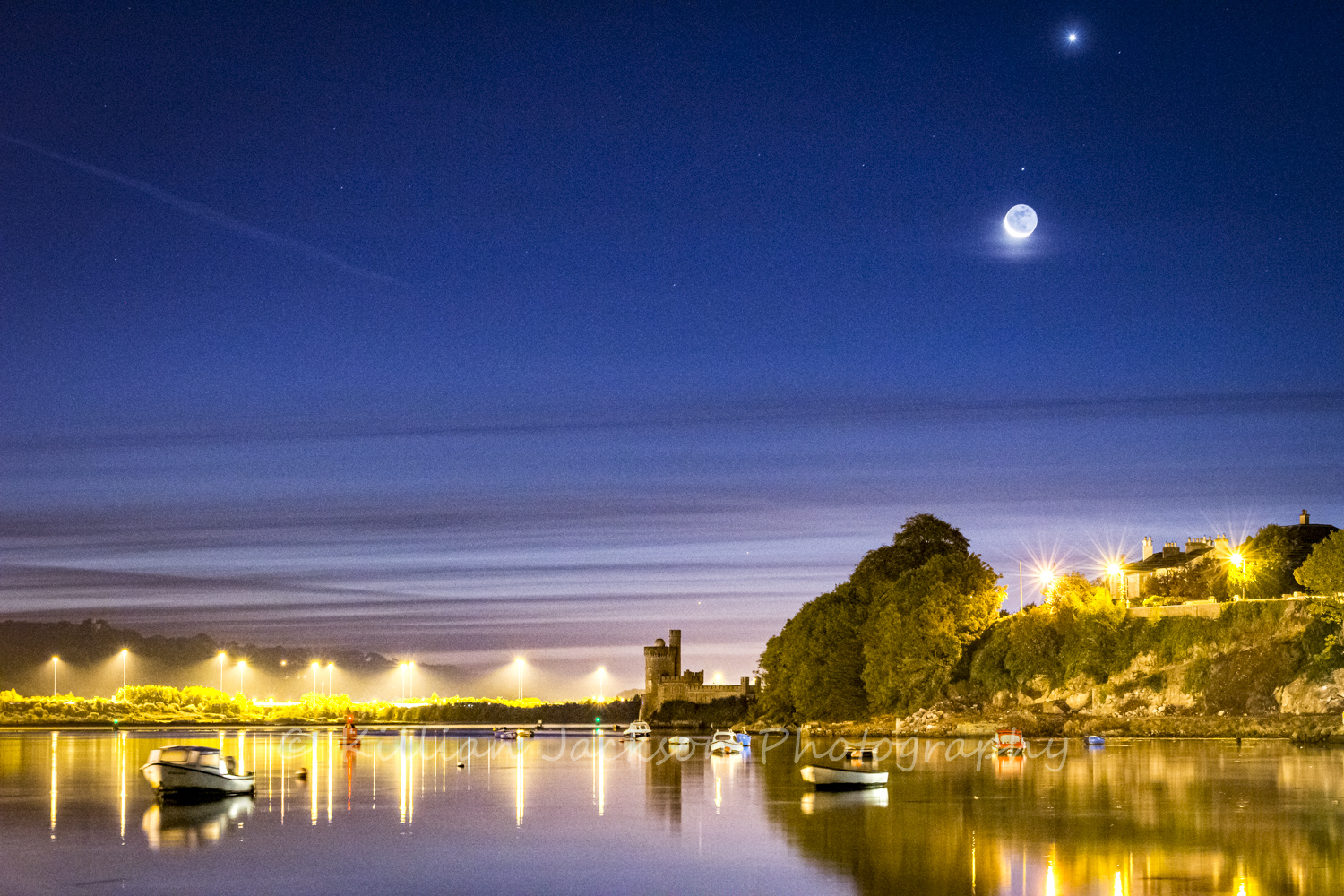 Crescent Moon over Blackrock Castle
