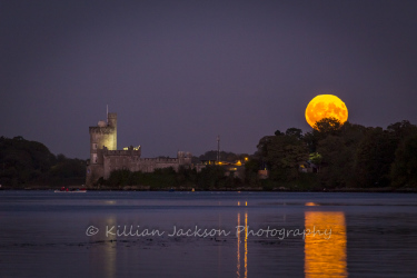 full, moon, rower, blackrock, castle, cork, cork city, ireland, river lee