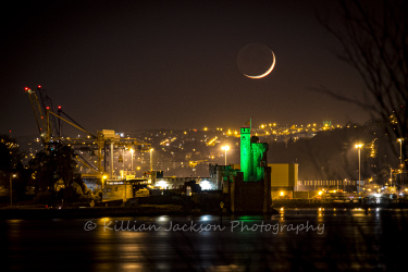 crescent, moon, blackrock, blackrock castle, cork, cork city, ireland, river, river lee