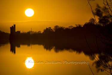 river, river lee, cork, ireland, sunrise, blackrock, castle, blackrock castle