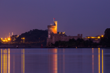 blackrock, castle, cork city, river Lee, blue hour