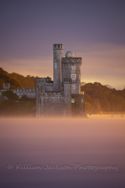 mist, blackrock, castle, cork, cork city, ireland, river lee