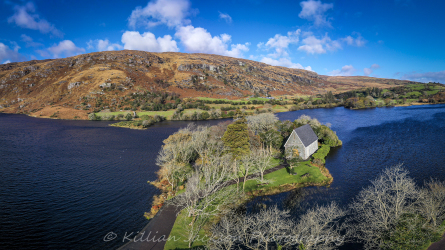drone, mavic 2 pro, gougane barra, west cork, cork, ireland