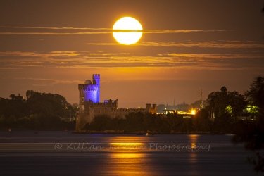 harvest, moon, blackrock, castle, cork, cork city, ireland, river lee