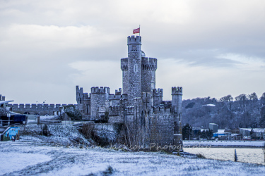 snow, blackrock, castle, cork, ireland
