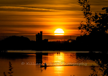 rowing, sunrise, blackrock, blackrock castle, cork, cork city, ireland, river, river lee
